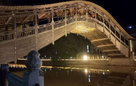 """夜观""""渭水长虹""""—灞陵桥"""
