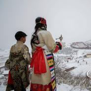 郎木寺的雪景