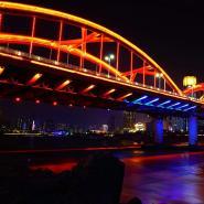 兰州 流光溢彩黄河桥